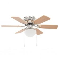 stradeXL Ornate Ceiling Fan with Light 82 cm Light Brown