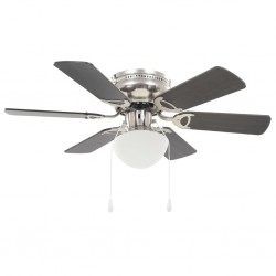 stradeXL Ornate Ceiling Fan with Light 82 cm Dark Brown