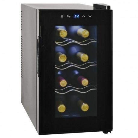 stradeXL Chłodziarka do wina, 25 L, 8 butelek, wyświetlacz LCD