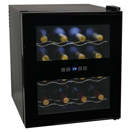 stradeXL Chłodziarka do wina, 48 l, 16 butelek, wyświetlacz LCD