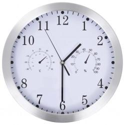 stradeXL Zegar ścienny z higrometrem i termometrem, 30 cm, biały