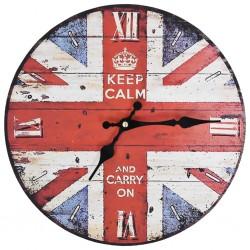 stradeXL Zegar ścienny w stylu vintage, flaga UK, 30 cm