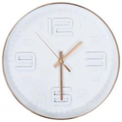 stradeXL Wall Clock Copper Look 30 cm