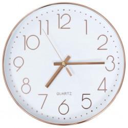 stradeXL Zegar ścienny, 30 cm, różowe złoto