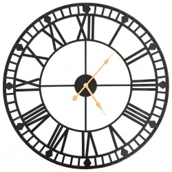 stradeXL Vintage Wall Clock with Quartz Movement Metal 60 cm XXL