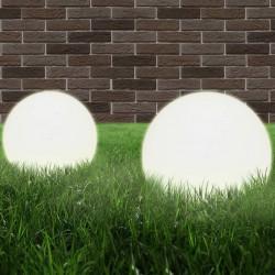 stradeXL Lampy zewnętrzne LED, 2 szt., kule 30 cm, PMMA