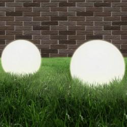 stradeXL Lampy zewnętrzne LED, 2 szt., kule 40 cm, PMMA