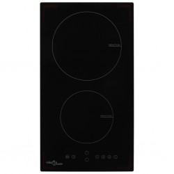 stradeXL Induction Hob with 2 Burners Touch Control Glass 3500 W