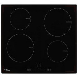 stradeXL Induction Hob with 4 Burners Touch Control Glass 7000 W