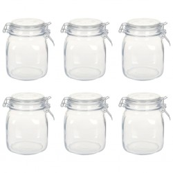 stradeXL Glass Jars with Lock 6 pcs 1 L