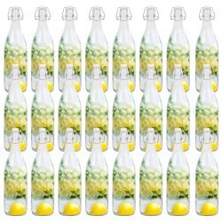 stradeXL Szklane butelki z zamknięciem pałąkowym, 24 szt., 1 L