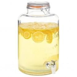 stradeXL Water Dispenser XXL with Tap Transparent 8 L Glass