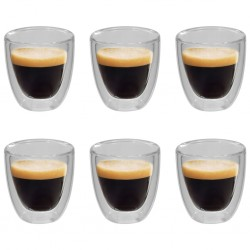 stradeXL Double Wall Thermo Glass for Espresso Coffee 6 pcs 80 ml