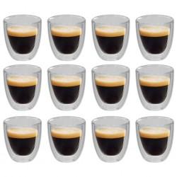 stradeXL Double Wall Thermo Glass for Espresso Coffee 12 pcs 80 ml