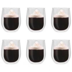 stradeXL Double Wall Tea Glasses 6 pcs 320 ml