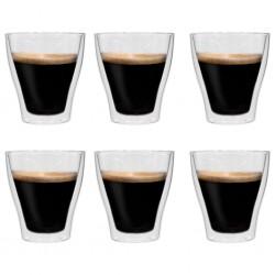 stradeXL Dwuścienne filiżanki na latte macchiato, 6 szt., 280 ml