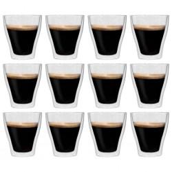 stradeXL Double Wall Latte Macchiato Glasses 12 pcs 280 ml