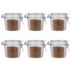 stradeXL Storage Jars with Clip Closure 6 pcs 340 ml