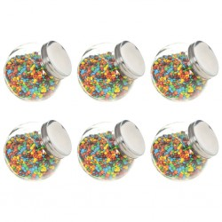 stradeXL Candy Jars 6 pcs 15.5x10.5x15 cm 1400 ml