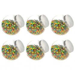 stradeXL Candy Jars 6 pcs 19.5x13.5x19.5 cm 3000 ml
