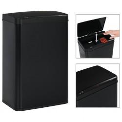 stradeXL Automatic Sensor Dustbin Black Steel 60 L