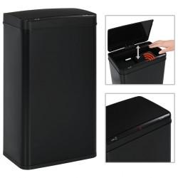 stradeXL Automatic Sensor Dustbin Black Steel 70 L