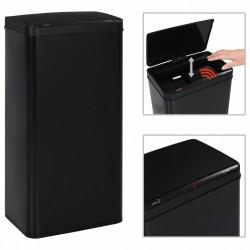 stradeXL Automatic Sensor Dustbin Black Steel 80 L