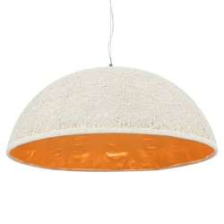 stradeXL Lampa wisząca, biało-złota, Ø 70 cm, E27