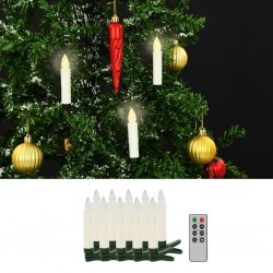 stradeXL Wireless LED Candles with Remote Control 10 pcs Warm White