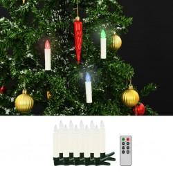 stradeXL Bożonarodzeniowe świece LED, bezprzewodowe, z pilotem, 10 szt.