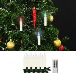 stradeXL Christmas Wireless LED Candles with Remote Control 10 pcs RGB