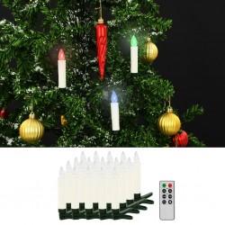 stradeXL Bożonarodzeniowe świece LED, bezprzewodowe, z pilotem, 20 szt.