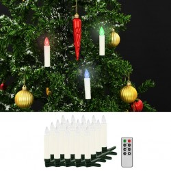 stradeXL Christmas Wireless LED Candles with Remote Control 20 pcs RGB