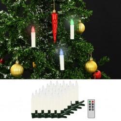 stradeXL Bożonarodzeniowe świece LED, bezprzewodowe, z pilotem, 30 szt.