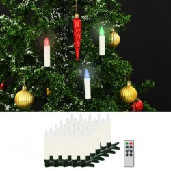 stradeXL Christmas Wireless LED Candles with Remote Control 30 pcs RGB