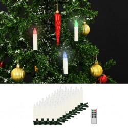 stradeXL Bożonarodzeniowe świece LED, bezprzewodowe, z pilotem, 50 szt.