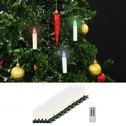 stradeXL Bożonarodzeniowe świece LED, bezprzewodowe, z pilotem, 100 szt.