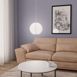 stradeXL Lampa wisząca, biała, Ø30 cm, E27
