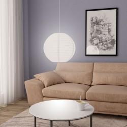 stradeXL Lampa wisząca, biała, Ø45 cm, E27