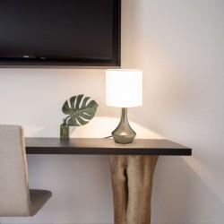 stradeXL Lampy stołowe, 2 szt., dotykowe, białe, E14