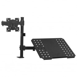 "stradeXL Monitor Laptop Dual Desk Mount Bracket 13""-23"""