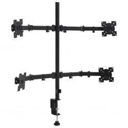"stradeXL 4-ramienny stojak na monitory na biurko, 13""-23"""