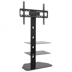 "stradeXL Swivel TV Floor Stand Mount 32""-70"" with 2 Shelves"