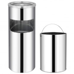 stradeXL Ashtray Dustbin Hotel 30 L Stainless Steel