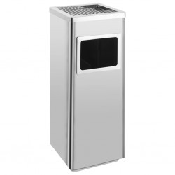 stradeXL Ashtray Dustbin Hotel 36 L Stainless Steel