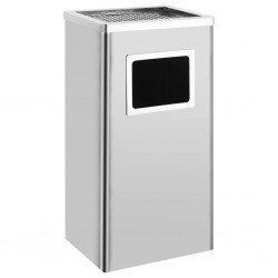 stradeXL Ashtray Dustbin Hotel 45 L Stainless Steel