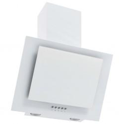 stradeXL Okap kuchenny, 60 cm, stal nierdzewna i hartowane szkło, biały