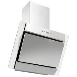 stradeXL Okap kuchenny, 60 cm, stal nierdzewna i hartowane szkło srebrny