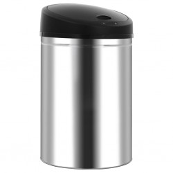 stradeXL Automatic Sensor Dustbin Garbage Bin 42 L Stainless Steel