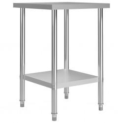 stradeXL Kuchenny stół roboczy, 60x60x85 cm, stal nierdzewna